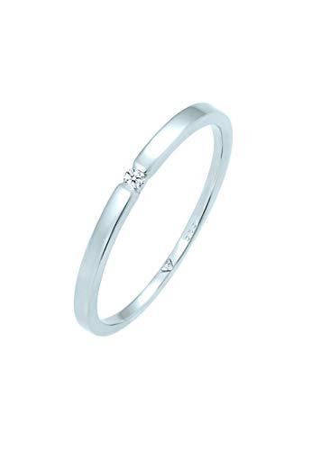 DIAMORE Ring Damen Verlobungsring mit Diamant (0.02 ct.) in 585 Weißgold