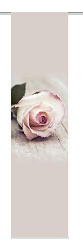 Home Fashion Rosy Schiebevorhang Digitaldruck, Stoff, rosa, 245 x 60 cm