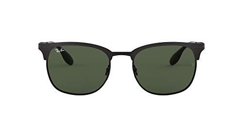 Luxottica S.p.A. Rayban Unisex Sonnenbrille Model: 3546 Gestell: schwarz, Gläser: dunkelgrau 186/71), Large (Herstellergröße: 53)