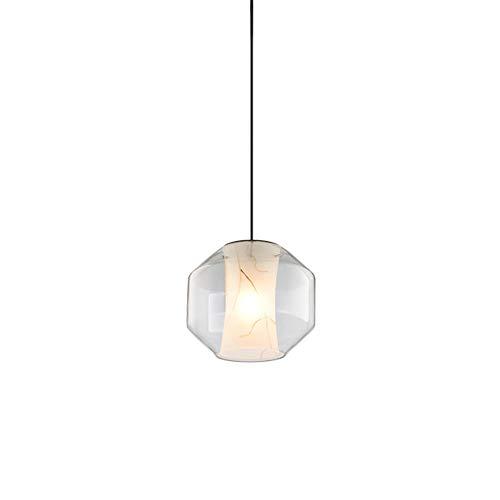 Luz colgante moderna Después de la araña de edificios nórdico minimalista moderna de noche creativo de una sola cabeza de la barra del restaurante del dormitorio lámpara araña de mármol naturales, vil
