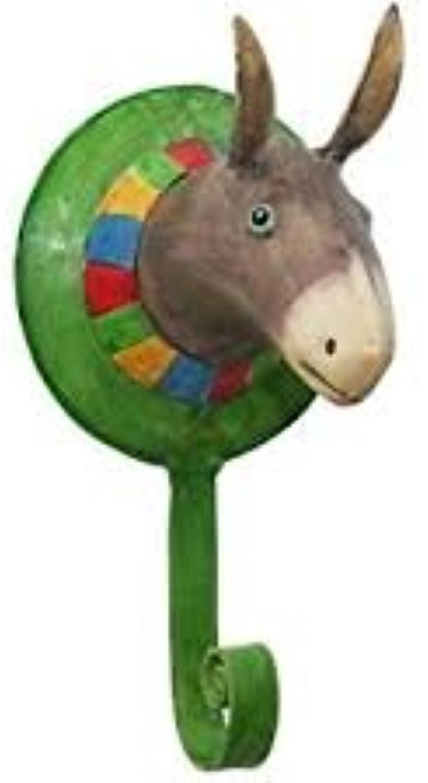Pape Kunstgewerbe Wand-Haken Wand-Haken Wand-Haken Kinderzimmer Garderobe Trophäe Esel aus Metall Shabby Look, lusitge Kleider-Haken B00DI8O9OE 546945