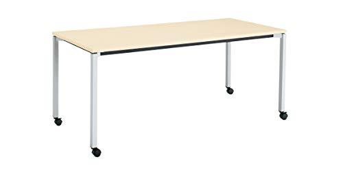 コクヨ ミーティングテーブル JUTO MT-JTK187S81M10-CN 角形天板 4本脚 角脚 スクエアコーナー 幅180×奥行75cm 天板ホワイトナチュラル/脚フラットシルバー キャスター付