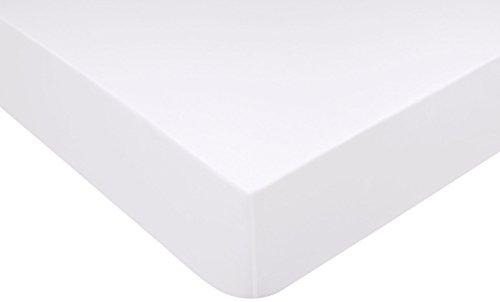 Jalla Spannbettlaken, Baumwolle, Weiß, 140x 190cm
