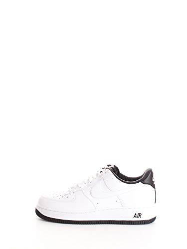 Nike Mens AIR Force 1 '07 1 Basketball Shoe, White/Black-White, 42 EU