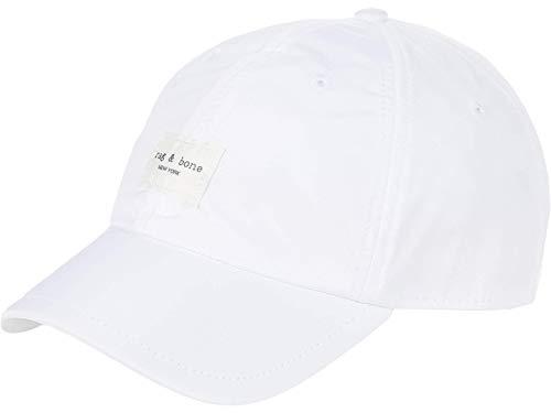 rag & bone Women's Addison Baseball Cap, Antique White, One Size
