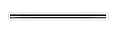 60' Linear Slot Diffuser - 2 Slots - AC Vent Cover - HVAC Register - Double Slot