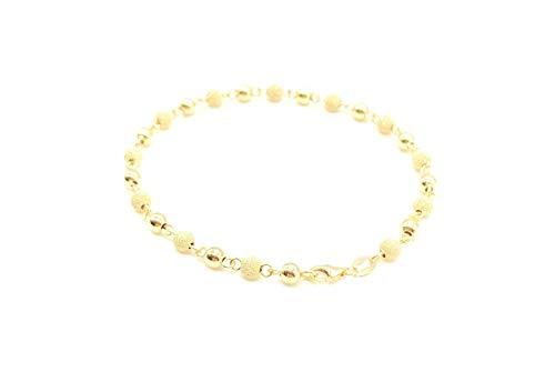 Pulsera para Mujer en Oro Amarillo de 18 Quilates Largo 19 cm
