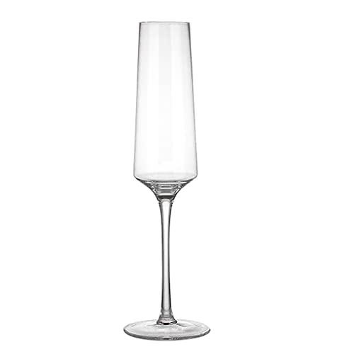 LICHUAN Copas de vino – Copas de champán de cristal soplado a mano – Juego de 2 copas de cristal premium sin plomo – regalo para boda, aniversario vino copas (color: B)