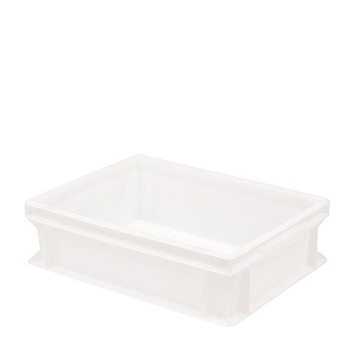Pimotti Contenitore in plastica per impasto per pizza, impilabile, 30 x 40 x 12 cm, 1er Set ohne Deckel