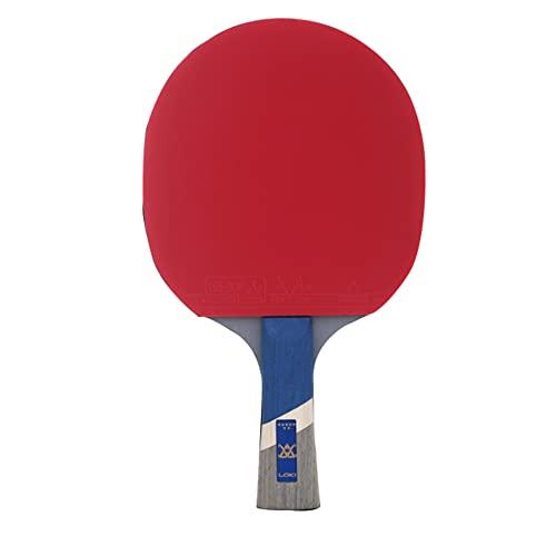 LINGOSHUN Paleta de Ping Pong,Raquetas de Tenis de Mesa Profesional para Jugadores de Nivel Intermedio,Goma Aprobada por la ITTF, Madera de 5 Capas / 7 Stars/Long handle