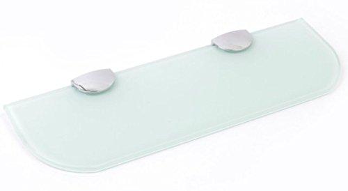 Ripiano in vetro con angoli curvi, per bagno, cucina e camera da letto, in 3dimensioni: 300mm, 400mm e 500mm, e 3colori: trasparente, bianco nero