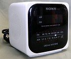 Vintage Sony Dream Machine AM/FM Radio Alarm Clock Model ICF-C120 White