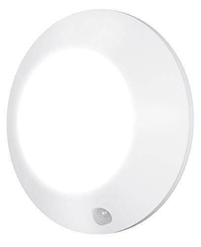 HONWELL LED Deckenlampe mit Bewegungsmelder Kabellos Sensorleuchte mit Batterie für Dusche Flur Speisekammer Treppe Schrank Eingangshalle Korridor Bad Balkon, 250 Lumen, 5 Zoll, 3000K warm weiss