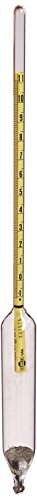 Chase Instruments ASTM1H ASTM American Petroleum Institute Hydrometer, 1H ASTM, -1 to 11 API Range, 0.1mm Interval, 330mm Length