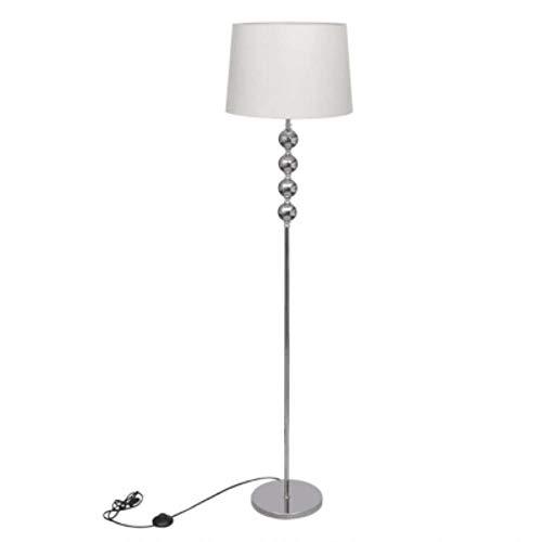Staande lamp met lange voet met 4 decoratieve bolletjes staande lamp woonkamer staande lamp woonkamerlamp 4 X 100 M