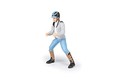 Papo 52008 Junger Reiter Pferde, FOHLEN UND PONYS Figur, Mehrfarben