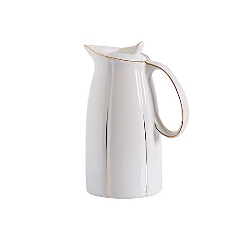 wantanshopping Jarra de Agua Tetera de cerámica Tetera Cafetera Pote de Agua Pote Porcelana Botella de Agua fría Jarra de Cristal (Color : B)