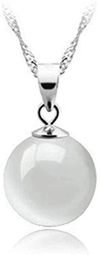 FACAIBA Collar Collar de Plata esterlina 925 Joyería Exquisita de Gama Alta Moda OL Gota de Agua Natural Collar con Colgante de ópalo Blanco para Mujeres Hombres Regalo