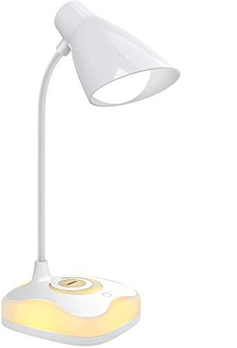 ZYLZL Ligero Lámpara de Mesa Led Luz para Leer Cobrable el Sensor Táctil el Ahorro de Energía Portátil Base con Luces de Estado de Ánimo,por Familia Oficina Habitación/A/With mood light