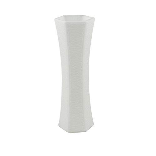 JSFGFSDH - Jarrón de plástico nórdico de imitación de cerámica para plantas