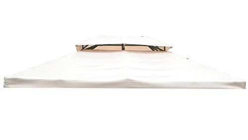 GIARDINI DEL RE Telo di Ricambio per Gazebo Sahara, Beige, 300x400x10 cm