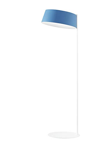 Oxygen Kunststoff Kunststoff Stehleuchte in Weiß Azurblau weiß | Handgefertigt in Italien | Stehlampe Modern Design Dimmbar | Lampe LED
