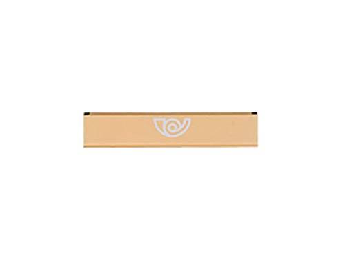 btv 66302–Brief Box für Tür, lackiertem Aluminium, Goldfarben