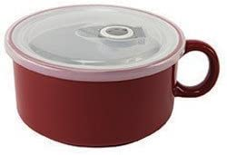 Boston Warehouse Chili Mug Soup Bowl Red Limited time sale 5% OFF 22 with Handle and Lid