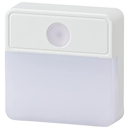 オーム電機 LED明暗センサー式ナイトライト NIT-ALA6MSQ-WN 06-0147 OHM