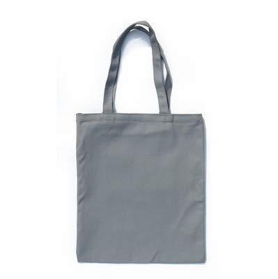 FastDirect Multicolor signore e gli uomini borse di tela tote bag riutilizzabile in cotone con cerniera shopping bag eco-pieghevole Grigio