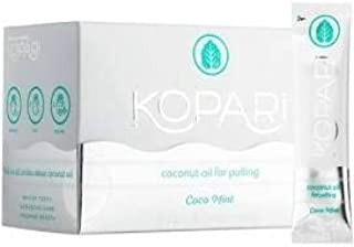 Kopari Coconut Oil Pullers Natural Teeth Whitening Pack of 14 (One Box) Flavor: Coco Mint