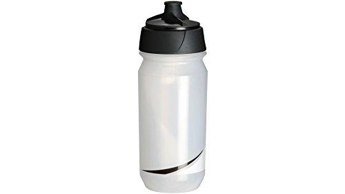 Tacx Trinkflasche Shanti Twist 500 ml mit Membranverschluß, Transparent/Schwarz, T5881.02