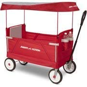Radio Flyer 3-In-1 EZ Folding Wagon with Canopy for kids and cargo (Renewed)