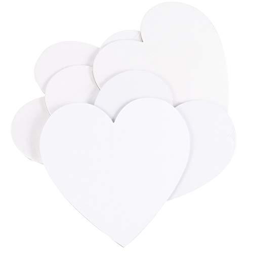Healifty 5 st hjärtformade panelbrädor i kanvas för målning ritning heminredning 15 x 15 cm