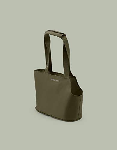 United Pets Lazy Dog Bag - Bolsa de Transporte para Perros pequeños, Plegable, Color Verde, 0,25 kg. Transportín para Perros, Talla única