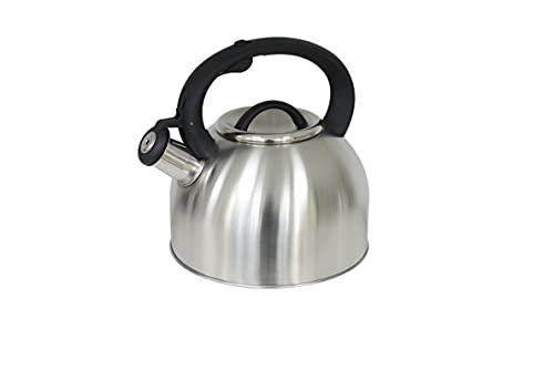 Rossetto-Tetera para induccion,hervidor de agua gas,INOX premier, 2.5 L, con silbato y mango antiquemaduras,aptas para todo tipo de fuegos
