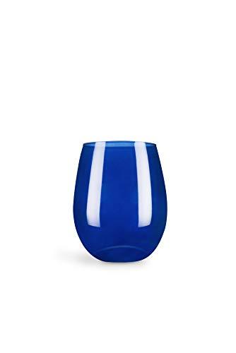 Excelsa Juego de 6 Vasos, Vidrio, Azul Cobalto