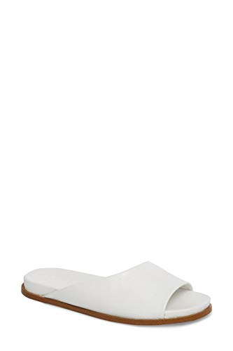 1.STATE Womens ONORA Slide Sandal White Leather