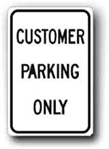 LPOK Metal Sign 8x12 Inches Traffic Sign, Customer Parking Only Sign Reflective Warning Caution Notice Safety Sign Metal for Outdoor Indoor Use for Thanksgiving