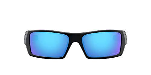 Oakley Men's OO9014 Gascan Rectangular Sunglasses, Matte Black/Prizm Sapphire Polarized, 60 mm