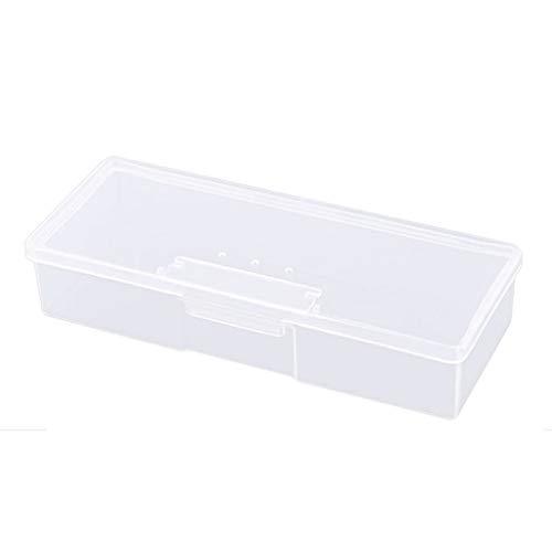 GaoCold New Transparent Empty Nail Storage Box Manicure Tools Organizer Case Holder (Translucent White)