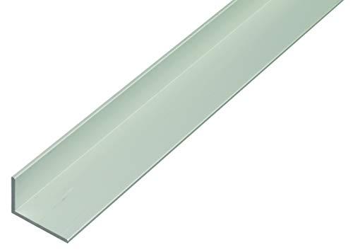 Alfer - Profilo angolare in alluminio 1000 x 40 x 20 mm Argento