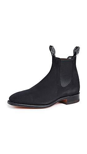 R.M. Williams Men's Suede RM Chelsea Boots, Black, 11 Medium US