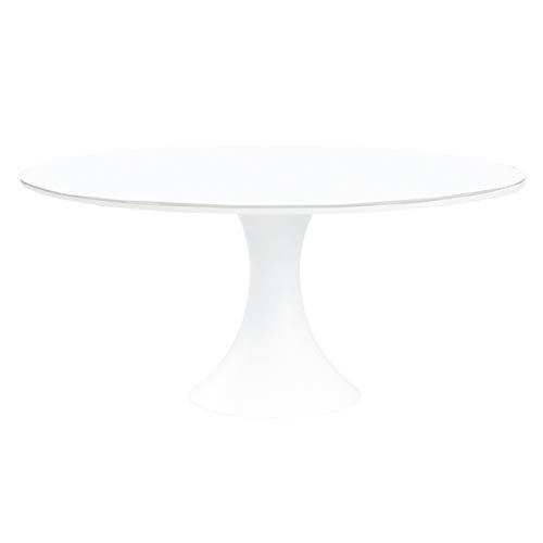 Oseasons Fano Aluminium 6 zitplaatsen eettafel in wit met mat wit glas