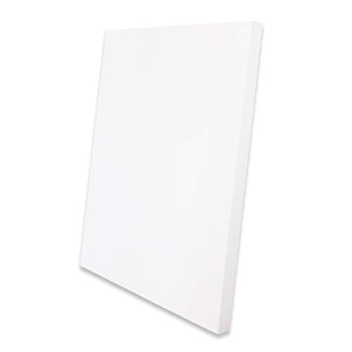 Eono by Amazon - Lona Estirada Grueso 90 cm x 60 cm en Blanco 100% algodón