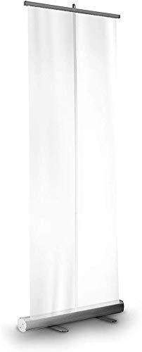 Byakns Aislamiento transparente Equipo de placa de boardzoning Rodillo transparente retráctil Tire de la bandera, Pantalla de tabique de guardia de estornude de pie con soporte de acero plástico, bols