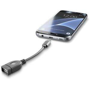 Cellular Line USB OTG - Cable adaptador para Samsung Galaxy,