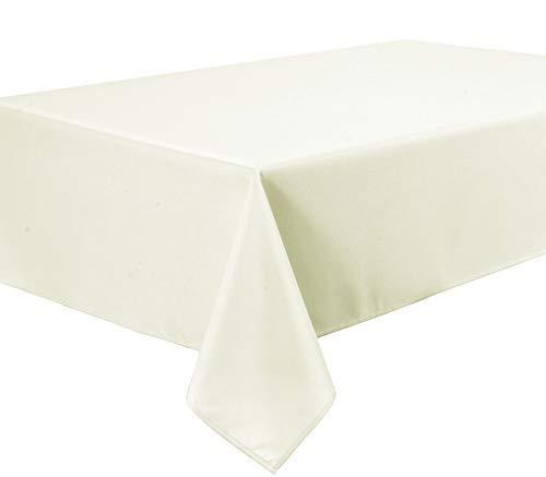 Home Direct Qualitäts Tischdecke Textil Eckig 150 x 300 cm, Farbe wählbar Crème