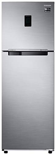 Samsung 345L 3 Star Inverter Frost Free Double Door Refrigerator (RT37T4513S8/HL, Elegant Inox, Convertible)