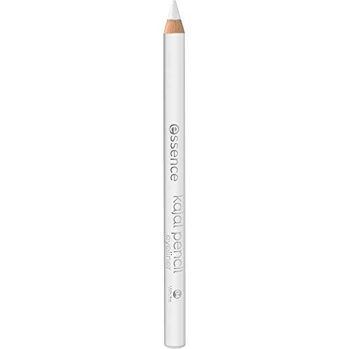 essence kajal pencil, Nr. 04 white, weiss, definierend, langanhaltend, vegan, Mikroplastik Partikel frei, Nanopartikel frei (1g)